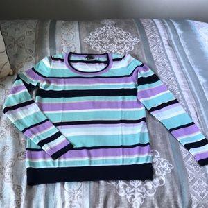 Talbots Crewneck striped sweater